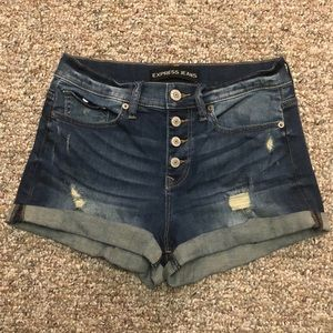 Express High Rise Shorts 6
